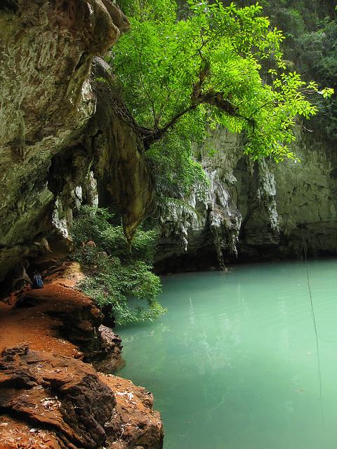 Blue lagoon near Railay beach in Krabi, Thailand