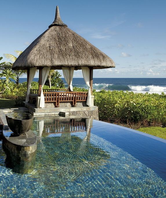 Pool at Shanti Maurice Resort, Mauritius