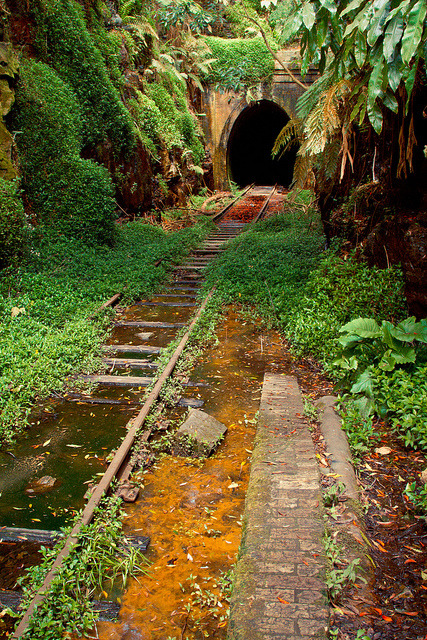 The old abandoned Helensburgh Station in New South Wales, Australia