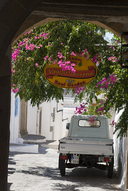 On the streets of Patmos, Dodecanese Islands, Greece