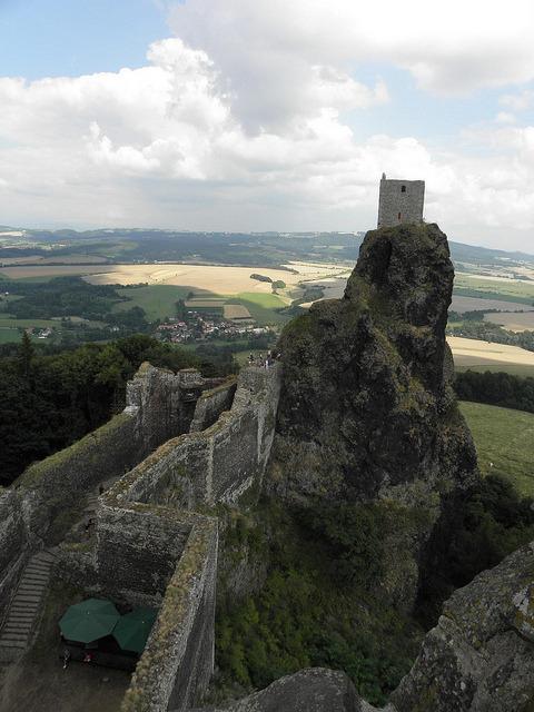Ruins of Trosky Castle in Czech Republic