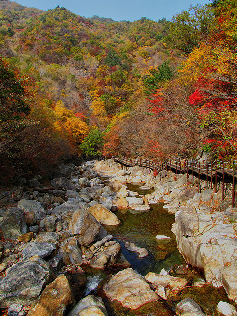 Baemsagol Valley in Jirisan National Park, South Korea