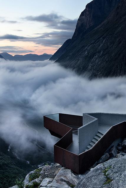 Viewing platform above Trollstigen Route, Norway