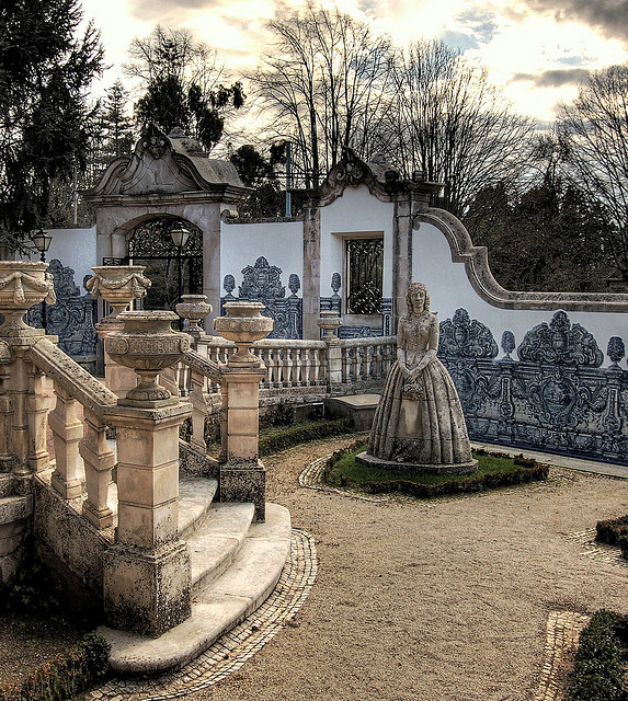 Stone Lady in the Garden, Coimbra, Portugal