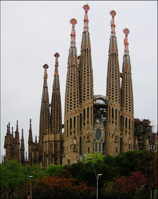 The Passion facade of Sagrada Familia, Barcelona, Spain