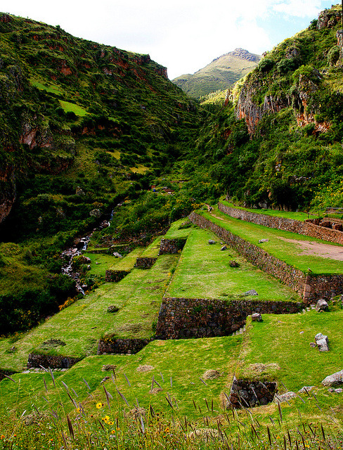 Ollantaytambo archeological site in the Sacred Valley of the Incas, Peru