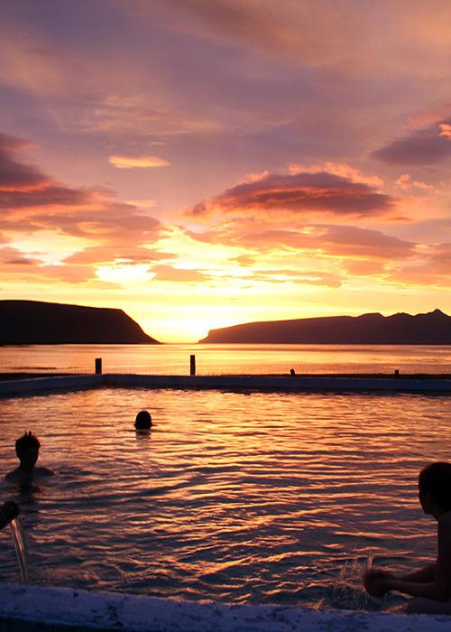 Midnight Sun at Westfjords, Iceland