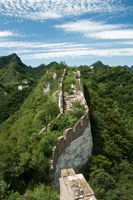 Nature taking over, The Great Wall at Jiankou, China