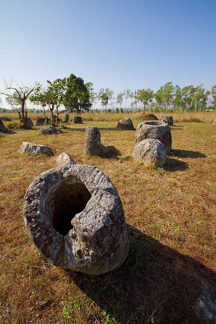 The Plain of Jars, a megalithic archaeological landscape on Xieng Khouang plateau, Laos