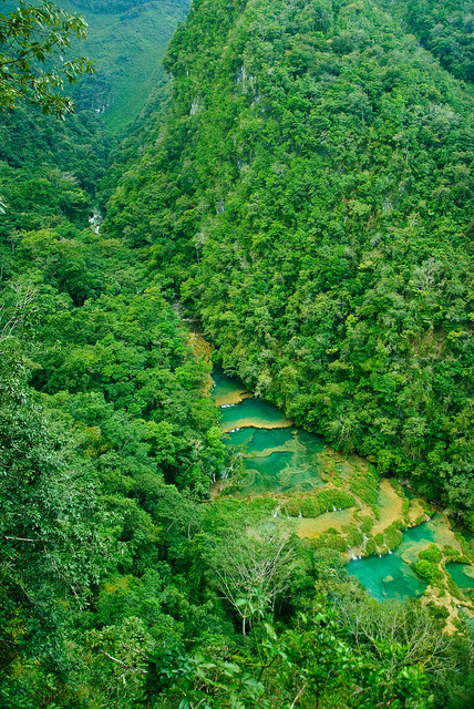 The pools of Semuc Champey in Alta Verapaz / Guatemala