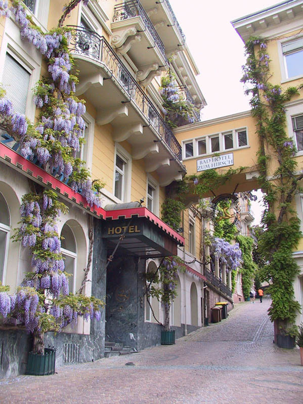 On the streets of Baden-Baden, a famous spa town in southwestern Germany