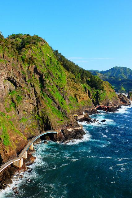Walking on the coast, Ulleungdo Island / South Korea