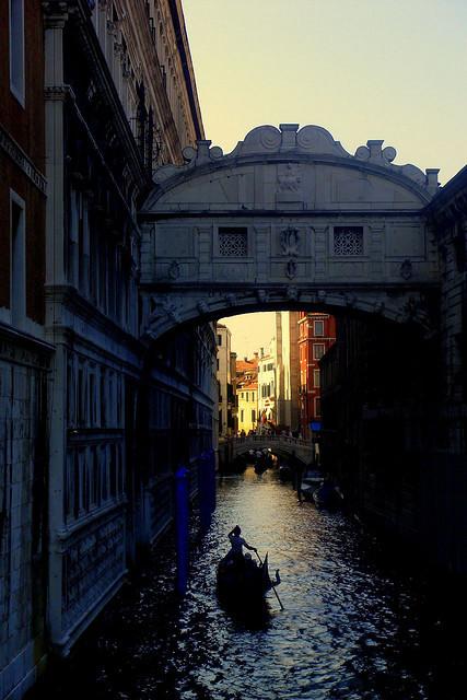 Under the bridge, Venice / Italy