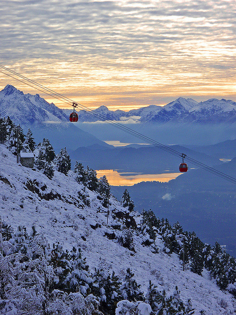 The cable-car to Cerro Otto in Bariloche / Argentina