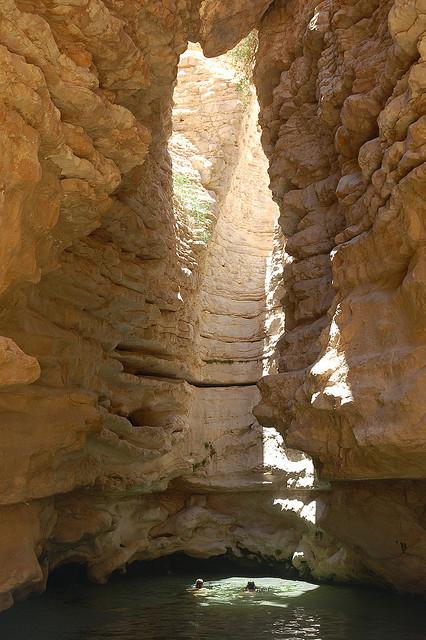 Hidden swimming spot in Wadi Hasa Canyon / Jordan