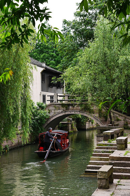 On the canals of Shaoxing, Zhejiang / China